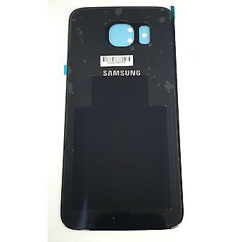 Samsung Galaxy S6 - SM-G920 - bakstycket med lim - svart