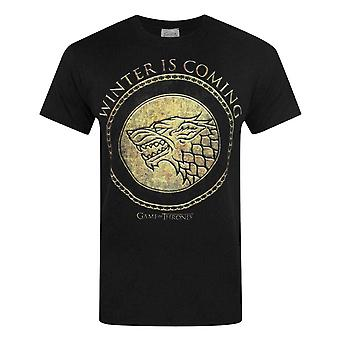 Game Of Thrones officiel Mens or bouclier T-Shirt