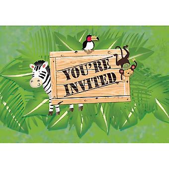 Convites de rali selva 8 peça crianças aniversário tema festa festa aniversário