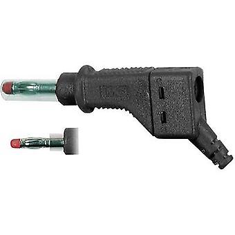 Stäubli XZGL-425 lige klinge plug Plug, straight Pin diameter: 4 mm sort 1 computer(e)