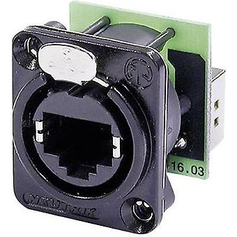 Neutrik NE8FDP-B NE8FDP-B RJ45 Plug conector EtherCon D Series de datos 8P8C RJ45 enchufe, recto negro