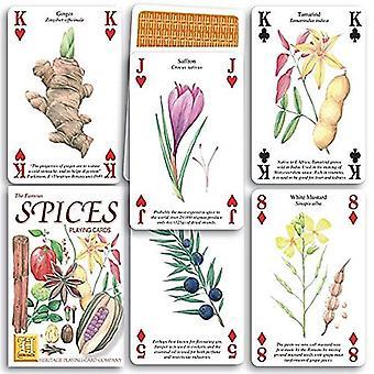 Krydderier sæt med 52 spillekort (+ jokere)