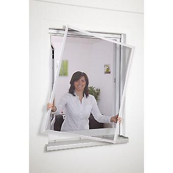 Alu-Fensterbausatz Fliegen-gitter Insekten-schutz 120 x 140 cm braun