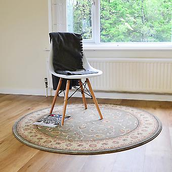 Noble Art Circular Traditional Rugs 6529 491 In Green