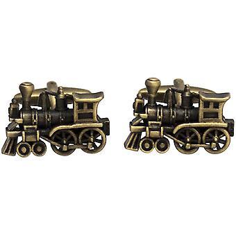 Boutons de manchettes Zennor Train - Bronze