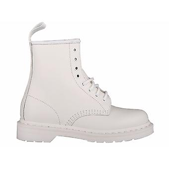 ד ר מרטנס Drmartens מונו לבן חלקה 1460 14357100 אוניברסלי כל השנה גברים נעליים