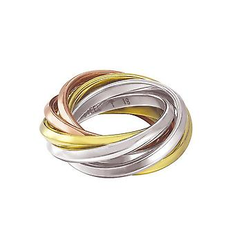 Joop vrouwen ring RVS tricolor EMBRACE JPRG10633A