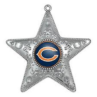 Chicago Bears NFL Sport collettori serie Silver Star Ornament