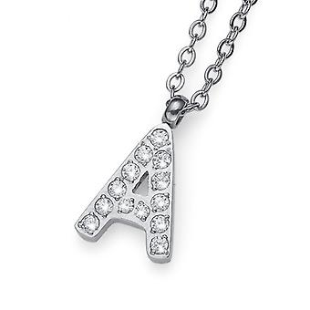 Oliver Weber Pendant Initial A Steel CZ Crystal