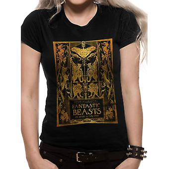 Crimes Of Grindelwald-Gold Foil Book Cover T-Shirt, women