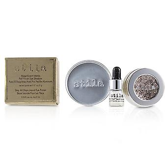 Stila Magnificent Metals Foil Finish Eye Shadow With Mini Stay All Day Liquid Eye Primer - Metallic Dusty Rose - 2pcs