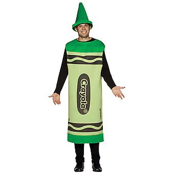 Mens Crayola Crayon Green Tunic Stag Night Group Fancy Dress Costume