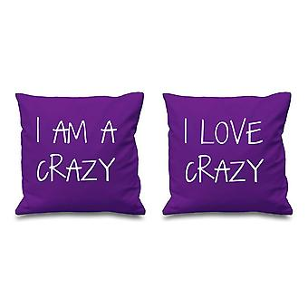 I Am Crazy I Love Crazy Purple Cushion Covers 16