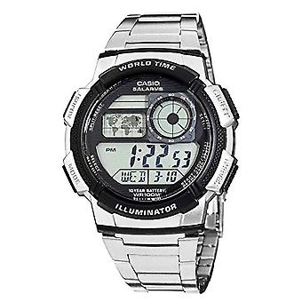 Casio digital watch with stainless steel band AE-1000WD-1av