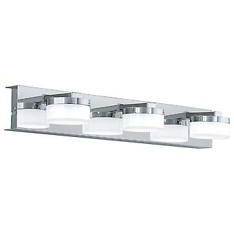 Eglo - Romendo 3 licht LED badkamer Over spiegel muur montage In gepolijste chroom afwerking EG94653