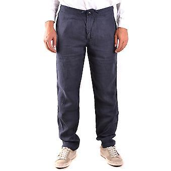 Stone Island Ezbc024030 Men's Blue Linen Pants