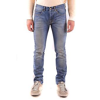 Mcq Door Alexander Mcqueen Ezbc053015 Men's Blue Cotton Jeans
