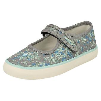 Girls Startrite Mary Jane Styled Canvas Shoes Hula