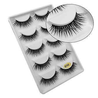 5-pair false eyelashes-3D faux mink-G702