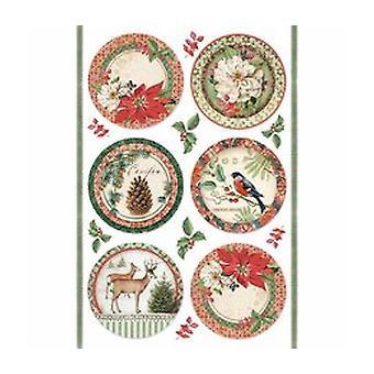 Stamperia Rice Paper A4 Winter Botanic Spheres (DFSA4325)