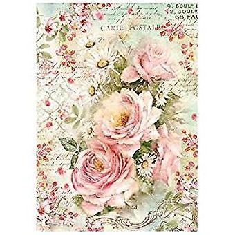 Riisipaperi A4 Ruusut &; Päivänkakkara (DFSA4223)