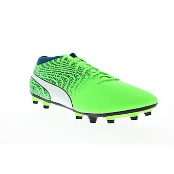 Puma One 18.4 FG Mens Green Low Top Athletic Soccer Cleats Chaussures