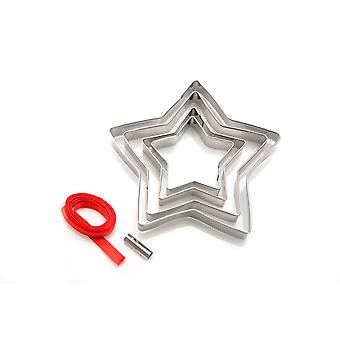 Eddingtons Star Cookie Cutters, Zestaw do dekoracji choinki