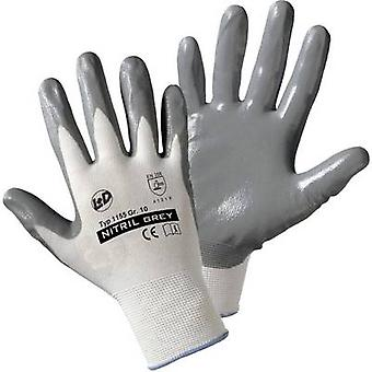 L+D worky Nitril- tricotado 1155 Nylon Protetor glove Size (luvas): 10, XL EN 388:2016 CAT II 1 Pair