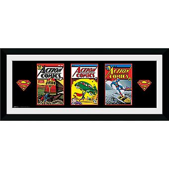 Superman Comic Framed Collector Print 75x30cm