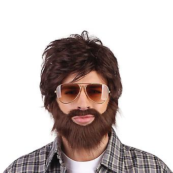 Bristol Novelty Unisex Vegas Vacation Wig And Beard Set