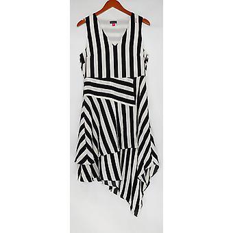 Vince Camuto kjole stripete kjole w/V-hals svart A306710