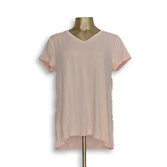 H par Halston Women-apos;s Top Essentials V-Neck Forward Pink A306231
