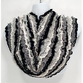 Collection XIIX Brushed Feather & Ruffle Black  Scarf A227324