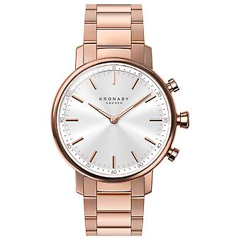 Kronaby Carat Automatic Analog Women's Watch with S2446/1 Gold Plated Stainless Steel Bracelet