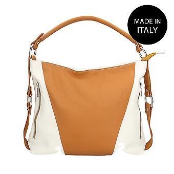 Läder axelväska tillverkad i Italien 80064