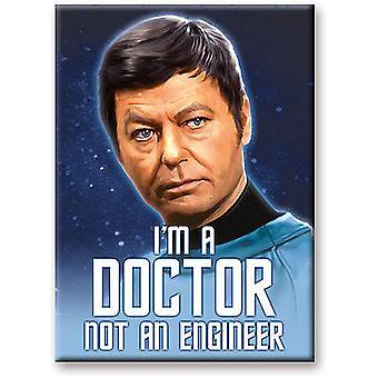 Star Trek Dr McCoy jeg ' m A Doctor ikke en ingeniør kjøleskap Magnet (NM)