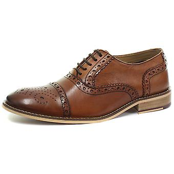 Roamers 5 Eyelet Mens Brogue Oxford Lace Up Shoes  AND COLOURS