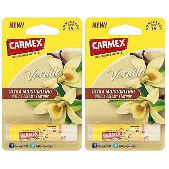 2 x CARMEX hydratant Baume - vanille 4, 25g aus USA