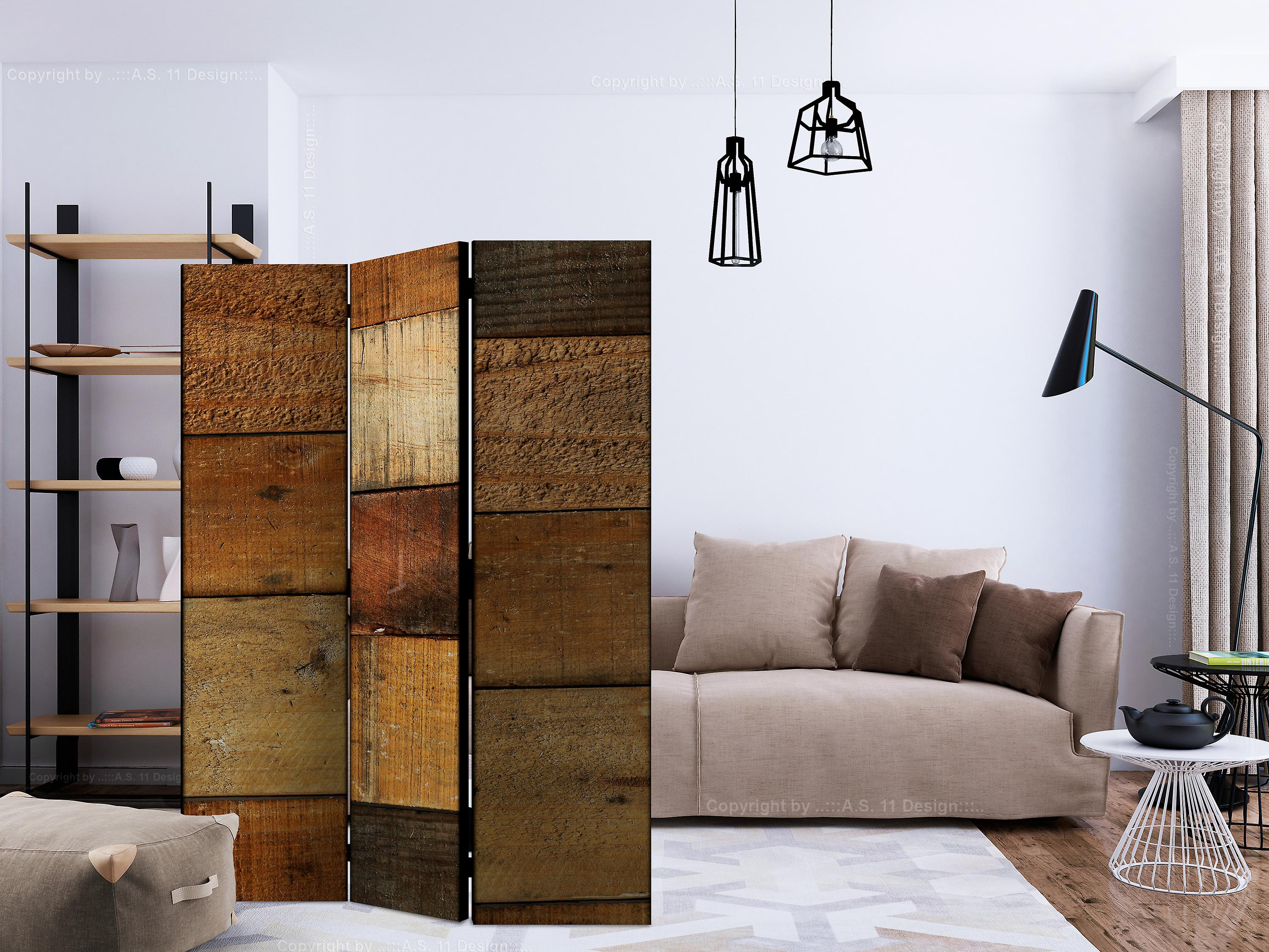 Paravent 3 volets - Wooden Textures [Room Dividers]