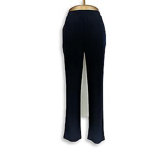 Susan Graver Frauen's Hose jeden Tag flüssig stricken blau A293180
