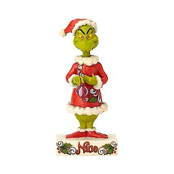 Dr. Seuss The Grinch Two-Sided Naughty Nice Figurine