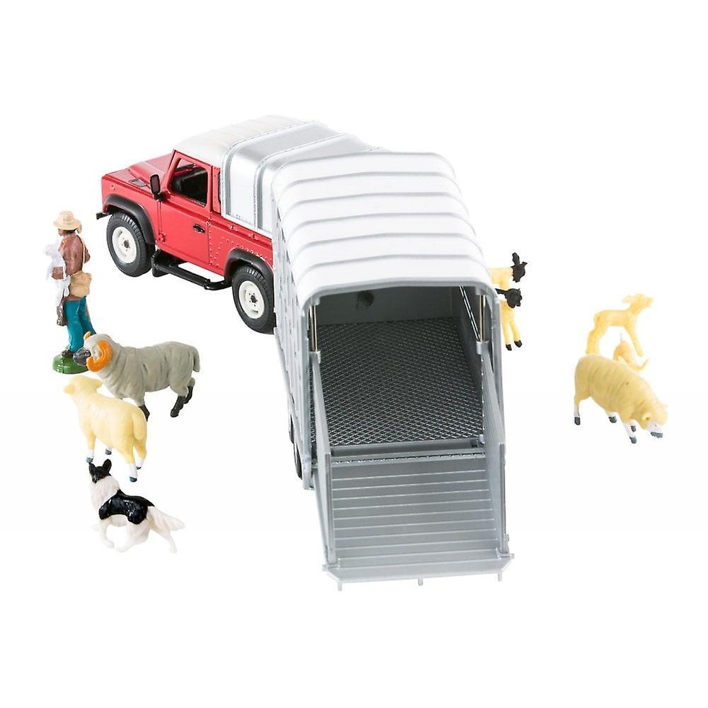 Britains Sheep Farmer Set Land Rover & Trailer 43138A1