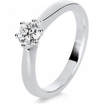 Diamond Ring Ring-14K 585 witgoud-0,5 CT.