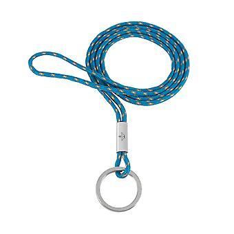 Skipper anheng nøkkelring halskjede nylon/rustfritt stål lys blå 8308