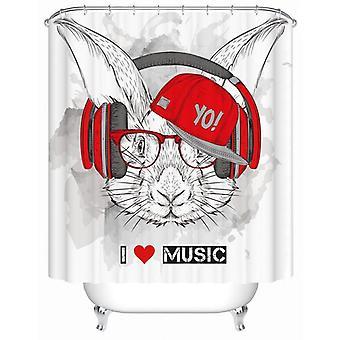 Muziekliefhebber konijn douche gordijn