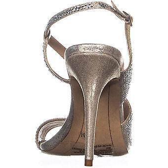 INC International Concepts I.N.C. Women's Renita Strappy Sandals Pearl Gold S...