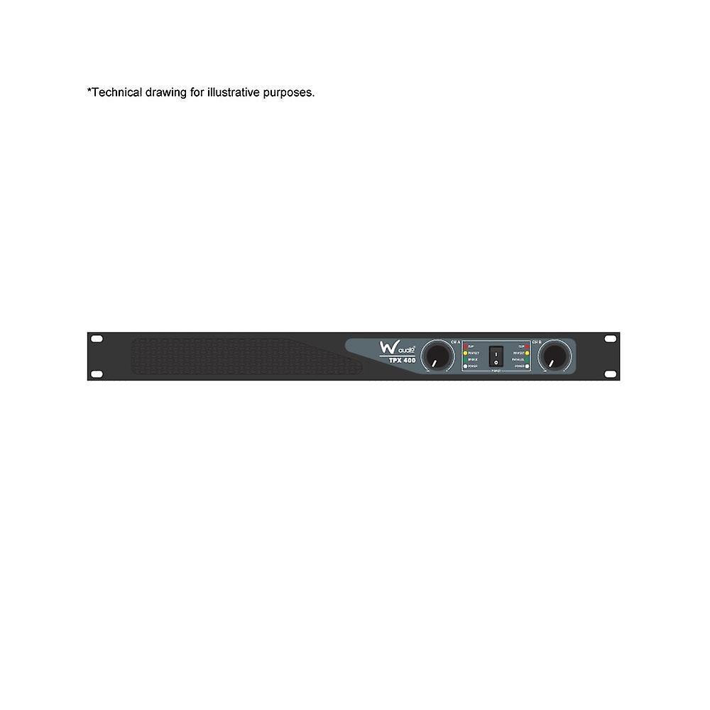 W Audio Tpx-400 Power Amplifier