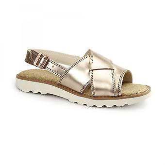 Kickers Kick Lite Weave Ladies Sandals Metallic/gold