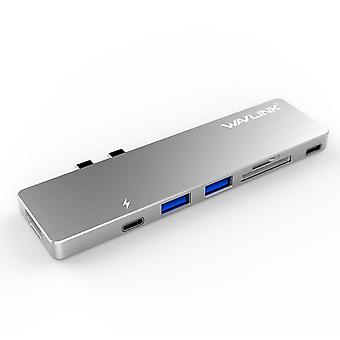 Wavlink USB-C Hub with Type-C 4K HDMI, USB 3.0 & Card Reader