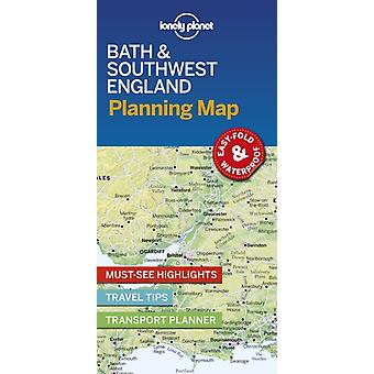 Lonely Planet Bath  Southwest England Planning Map
